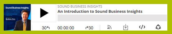 Watkins Firm Sound Business Insights - Episode 1 - An Introduction to Sound Business Insights